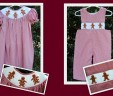 Gingerbread Girl Bishop Smocked Dress