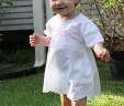 White Cotton Dress with Bloomers